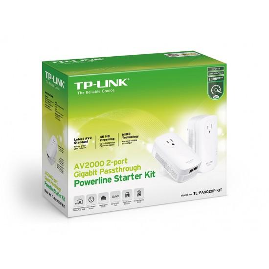 TP-LINK TL-PA9020P KIT AV2000 2-Port Gigabit Passthrough Powerline Starter Kit  Price in Pakistan