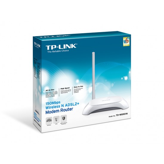 TP-LINK TD-W8901N 150Mbps Wireless N ADSL2+ Modem Router  Price in Pakistan