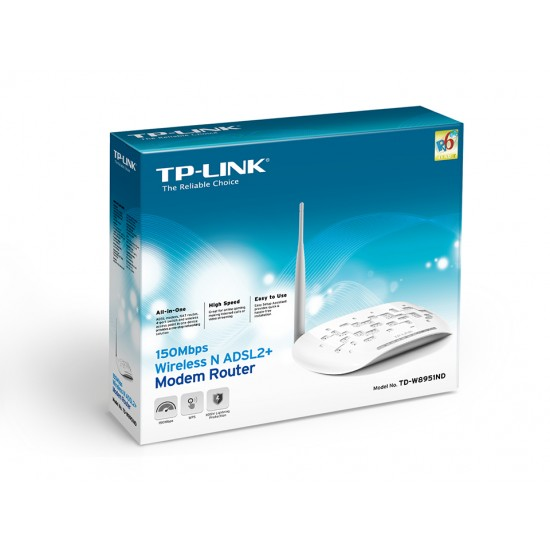 TP-LINK TD-W8951ND 150Mbps Wireless N ADSL2+ Modem Router  Price in Pakistan