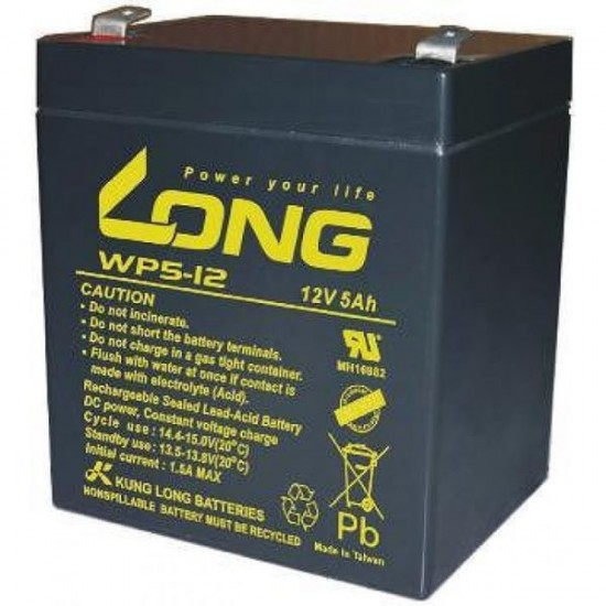 12v 5ah Battery >> Long Lead Acid Battery 12v 5ah