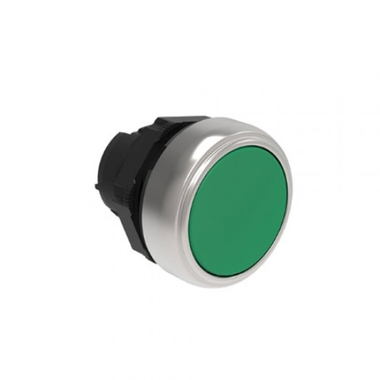 Lovato Electric Push Button With Mounting Block Green (NO)