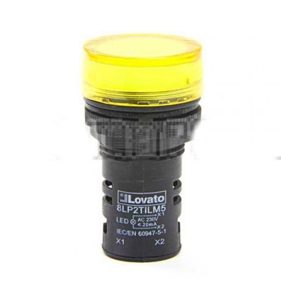 Lovato Electric 8LP2TILM5P LED Pilot Light Yellow  Price in Pakistan