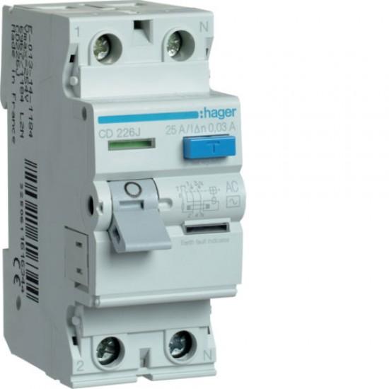 Hager CD226J Double Pole 25A Earth Leakage Circuit Breaker  Price in Pakistan