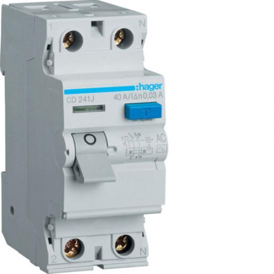 Hager CD241J Double Pole 40A Earth Leakage Circuit Breaker  Price in Pakistan