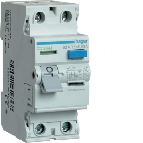 Hager CD264J Double Pole 63A Earth Leakage Circuit Breaker  Price in Pakistan