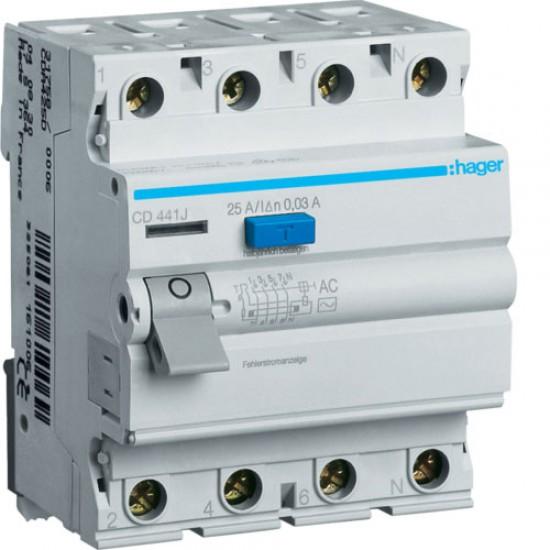 Hager CD441J Four Pole 40A Earth Leakage Circuit Breaker  Price in Pakistan