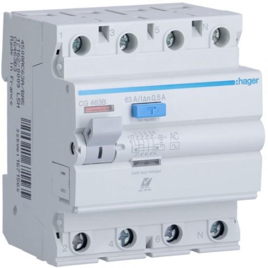 Hager CG463B Four Pole 63A Earth Leakage Circuit Breaker  Price in Pakistan