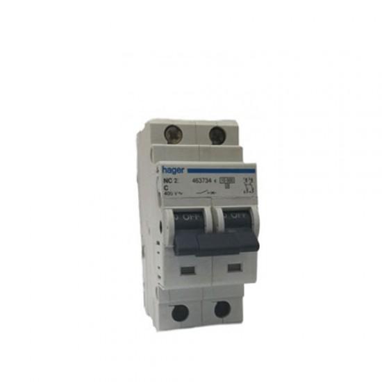 Hager NC-2 Double Pole 10KA-15KA Circuit Breaker  Price in Pakistan
