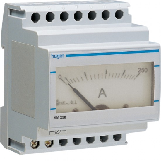 Hager SM250 0-250A Direct Reading Analogue Ammeter  Price in Pakistan