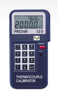 PROVA 125 Temperature Calibrator Thermocouple Kit:Case//Cable//Instruction//Battery