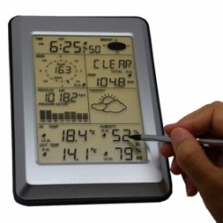 MISOL WA-1091 Professional Wireless Weather Station Touch Panel w/ Solar sensor, w/ PC interface