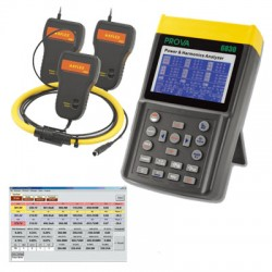 PROVA 6830A + AFLEX 3006 Power and Harmonics Analyzer (6000A)