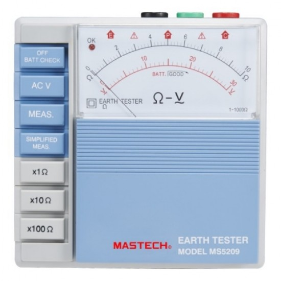 Mastech MS5209 Analog Earth Resistance Tester  Price in Pakistan