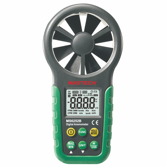 Mastech MS6252B - Digital Anemometer with Temperature/Humidity