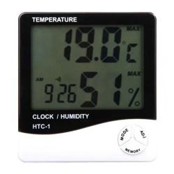 HTC-1 HYGROMETER Digital Temperature & Humidity Meter + Clock