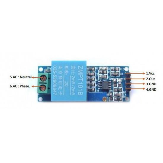 AC Voltage Sensor Module ZMPT101B (Single Phase)