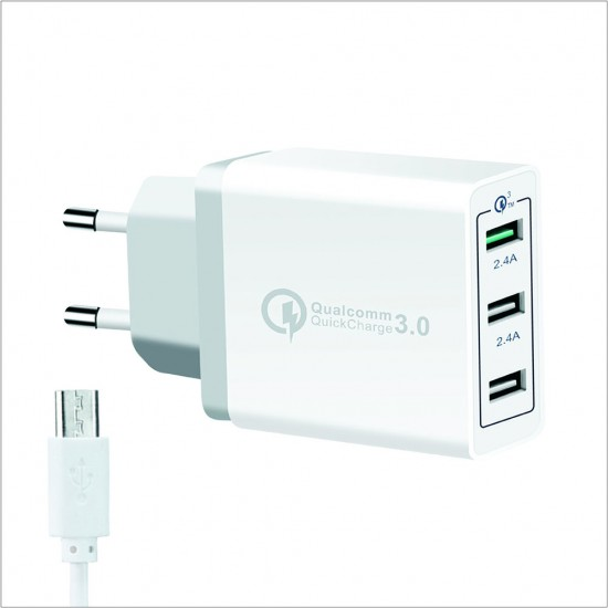 Ronin Quick Charger 3 Usb Ports R-333  Price in Pakistan