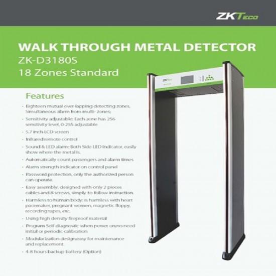 Zkteco ZK-D3180S Walk Through Meta Detector  Price in Pakistan