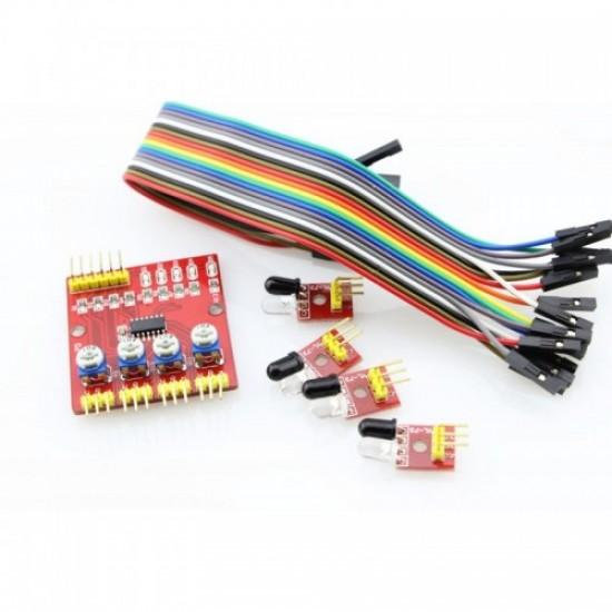 4-Way Obstacle Avoidance Car Sensor For Arduino