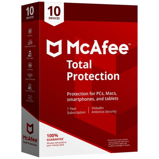 McAfee 2018 Total Protection 10 PC  Price in Pakistan