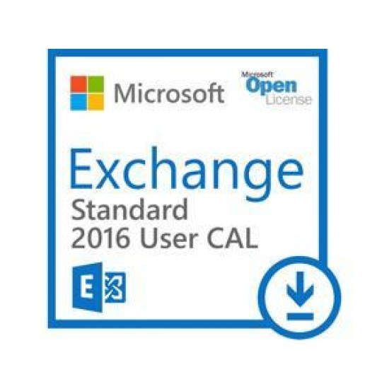 Microsoft®ExchangeStandardCAL 2016 Sngl OLP 1License NoLevel UsrCAL