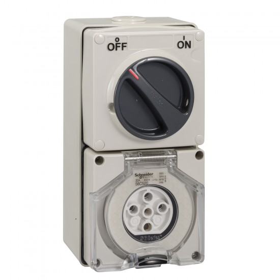 Clipsal S56C520, GY Combination Switched Socket  Price in Pakistan