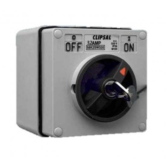 Clipsal S56SW232, GY 2 Pole Surface Switch  Price in Pakistan