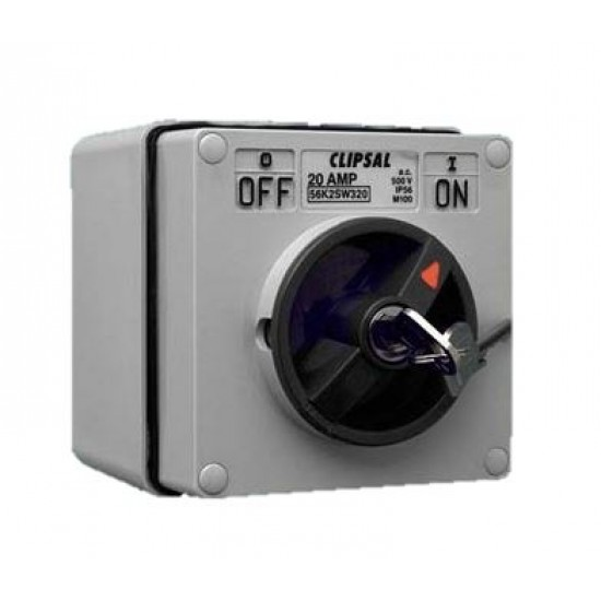 Clipsal S56SW320, GY 3 Pole Surface Switch  Price in Pakistan