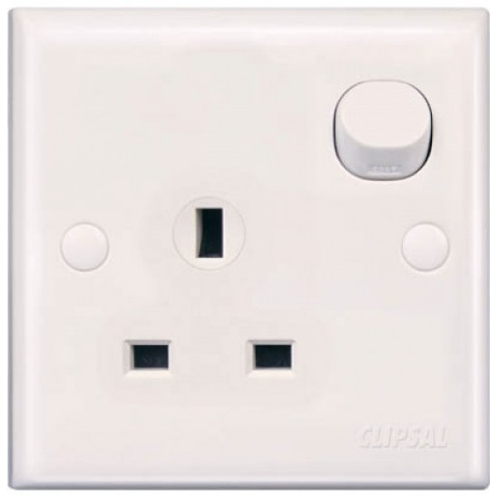 E-Series E15 13A 3 Pin Flat Switched Socket  Price in Pakistan