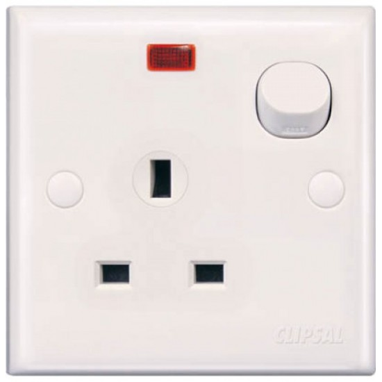 E-Series E15N 13A 3 Pin Flat Switched Socket With Neon  Price in Pakistan