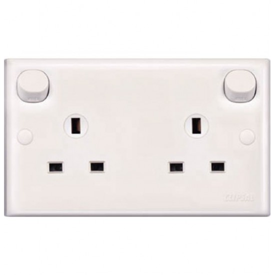 E-Series E25CE 13A 3 Pin Flat Duplex Switched Socket (Clean Earth)  Price in Pakistan