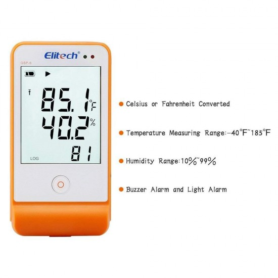 Elitech GSP-6 Temperature and Humidity Data Logger  Price in Pakistan