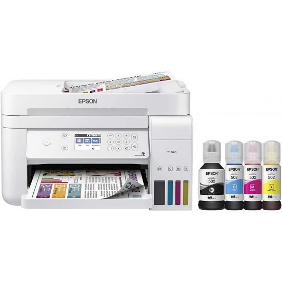 Epson EcoTank ET-3760 Wireless Color All-in-One Cartridge-Free Supertank Printer  Price in Pakistan