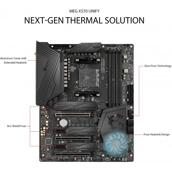MSI MEG X570 UNIFY ATX Motherboard  Price in Pakistan