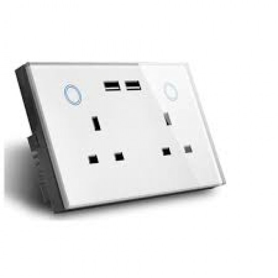 Mux Smart WiFi Enabled Double Wall Socket with Usb  Price in Pakistan