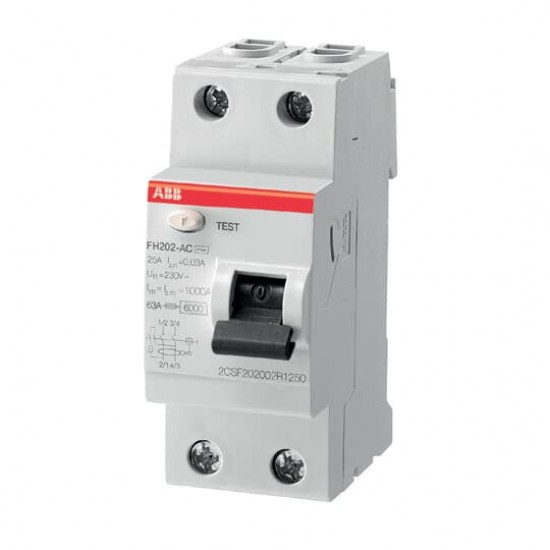 ABB FH202-025 Double Pole Residual Current Circuit Breaker  Price in Pakistan
