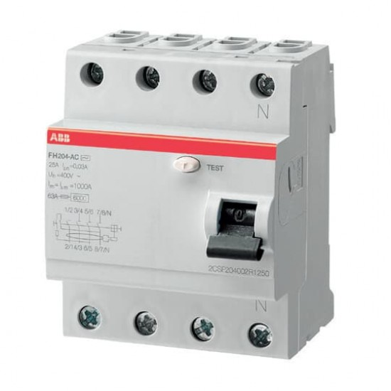 ABB FH204-063 Four Pole Residual Current Circuit Breaker  Price in Pakistan