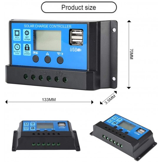 SunMaxx Solar Charge Controller 10A 12V/24V with 2 USB Port  Price in Pakistan
