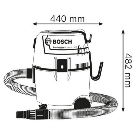 Bosch GAS 20 L SFC Wet/Dry Extractor  Price in Pakistan