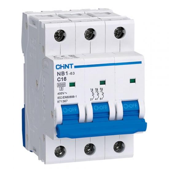 Chint MCB NXB-63 H Three Pole 10 kA Circuit Breaker  Price in Pakistan
