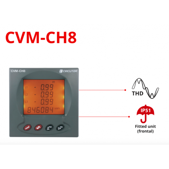 Circutor CVM-CH8 Multifunctional Multimeter For Panel  Price in Pakistan