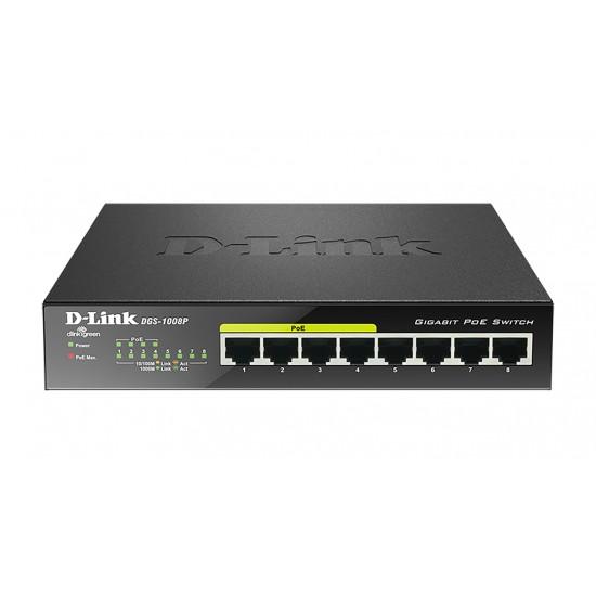 D-Link DGS‑1008P 8‑Port Gigabit PoE Switch  Price in Pakistan