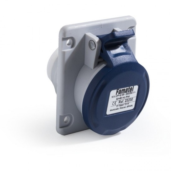 Famatel 23230 Angled (Flush) Panel Socket  Price in Pakistan