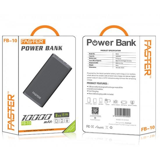 Faster FB10 Fuel Series Digital Power Bank 10000 mAh  Price in Pakistan