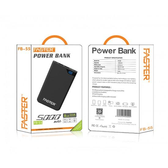 Faster FB55 Fuel Series Digital Power Bank 5000 mAh  Price in Pakistan