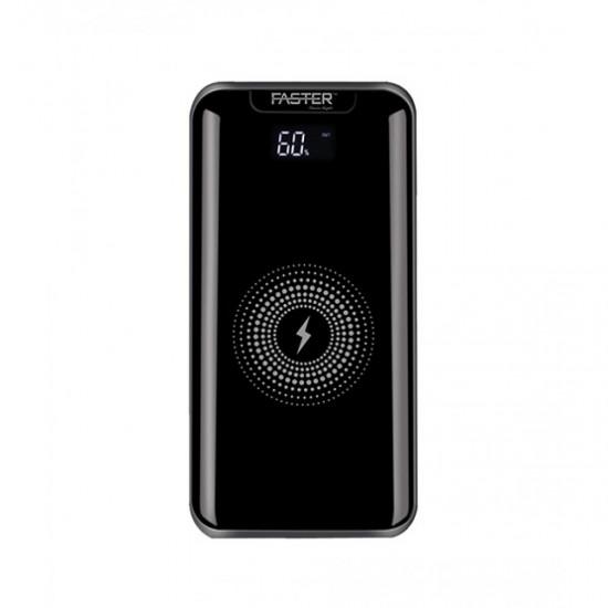 Faster Z1000 Digital Display Wireless Power Bank Black 10000mAh  Price in Pakistan