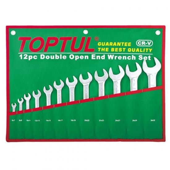 Toptul GAAA1206 - Double Open End Fix Wrench Set 12pcs  Price in Pakistan