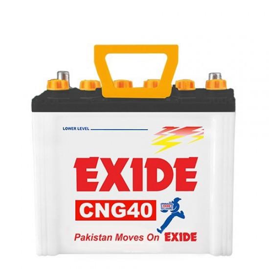 Exide CNG40 Lead Acid Battery 7 Plates 25 Ah  Price in Pakistan