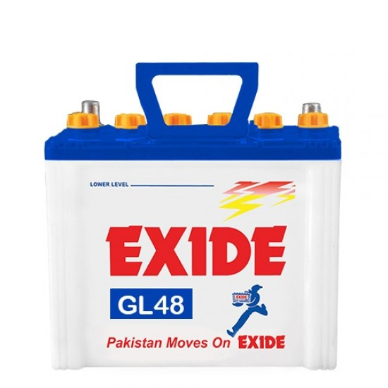 Exide GL48 Lead Acid Battery 9 Plates 34 Ah  Price in Pakistan