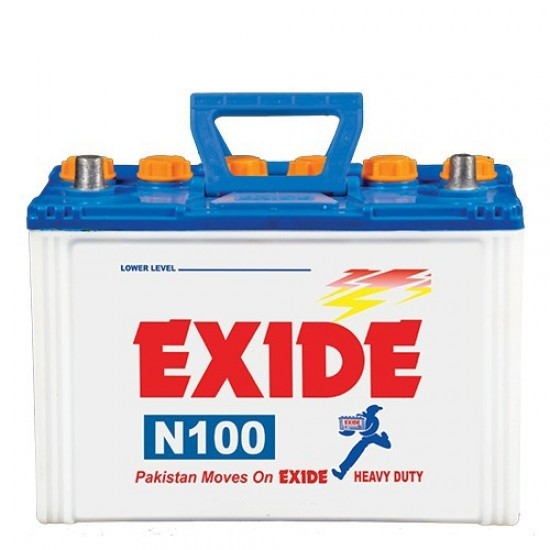 Exide N100 Lead Acid Battery 11 Plates 70 Ah  Price in Pakistan